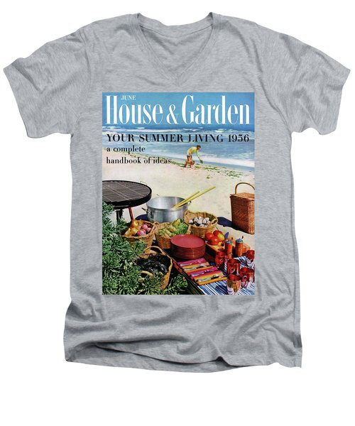 House And Garden Ideas For Summer Issue Cover Men's V-Neck T-Shirt