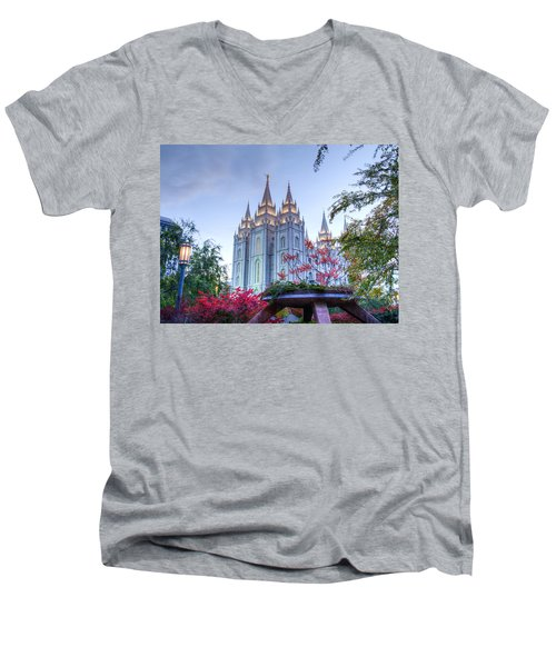 House Of The Lord Men's V-Neck T-Shirt by Dustin  LeFevre