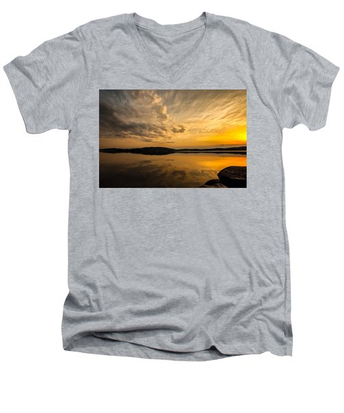 How Great Thou Art Men's V-Neck T-Shirt by Rose-Maries Pictures