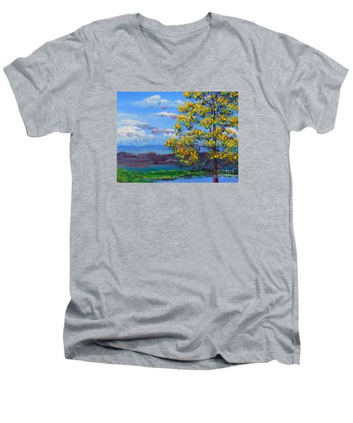 How Lovely Is Your Dwelling Place Men's V-Neck T-Shirt by Dan Whittemore