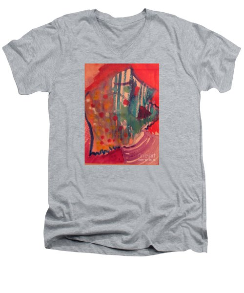 How Much I Loved You Original Contemporary Modern Abstract Art Painting Men's V-Neck T-Shirt by RjFxx at beautifullart com