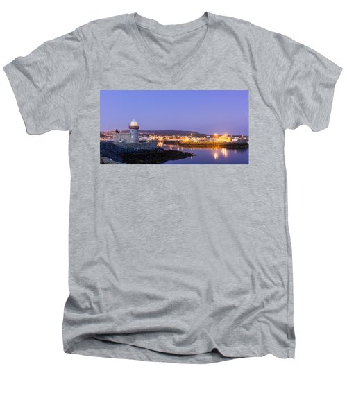 Howth Harbour Lighthouse Men's V-Neck T-Shirt by Semmick Photo