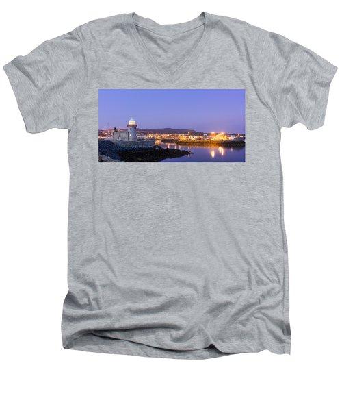 Howth Harbour Lighthouse Men's V-Neck T-Shirt