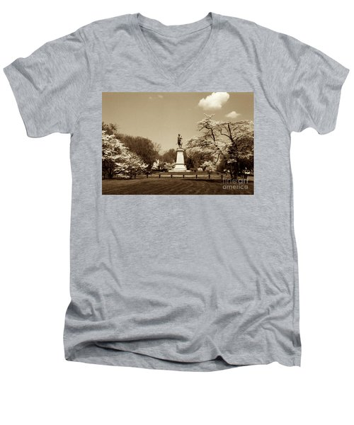 Hugh Mercer In Springtime II Men's V-Neck T-Shirt