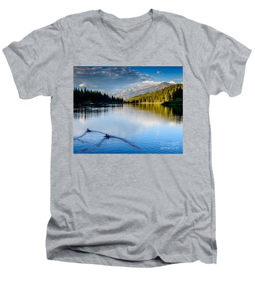 Hume Lake Evening Men's V-Neck T-Shirt