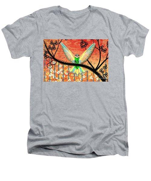 Hummer Love Men's V-Neck T-Shirt by Kim Prowse