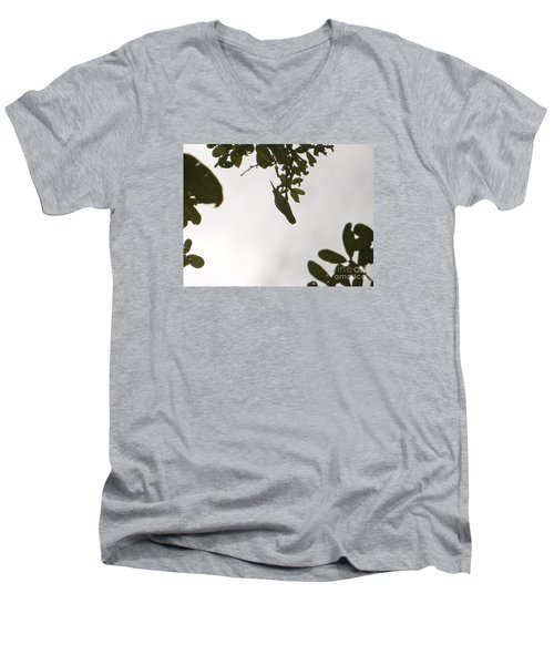 Men's V-Neck T-Shirt featuring the photograph Hummingbird Silhouette 1 by Joy Hardee