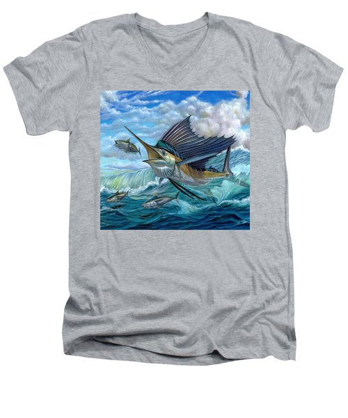 Hunting Sail Men's V-Neck T-Shirt
