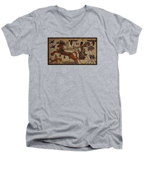 Hunting Scene Men's V-Neck T-Shirt