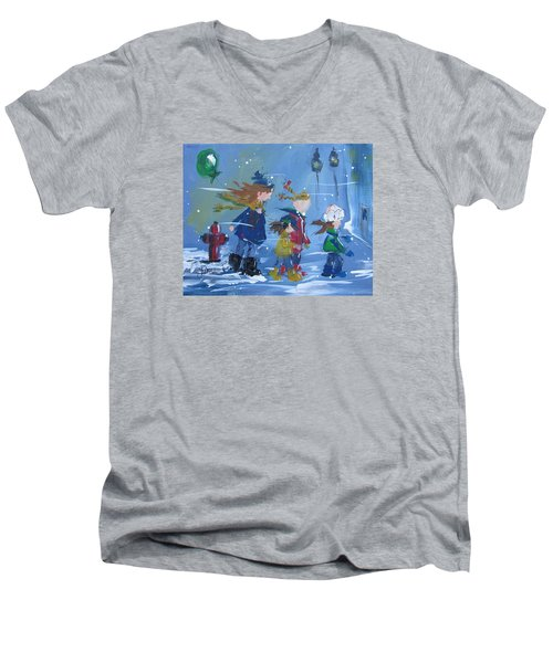 Hurry Home Men's V-Neck T-Shirt by Terri Einer