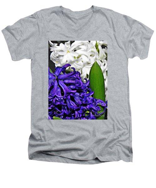 Hyacinths Men's V-Neck T-Shirt by Sarah Loft