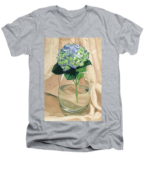 Hydrangea Blossom Men's V-Neck T-Shirt