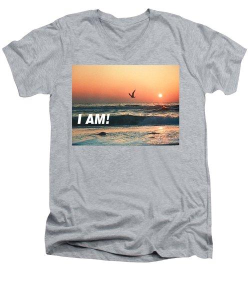 The Great I Am  Men's V-Neck T-Shirt