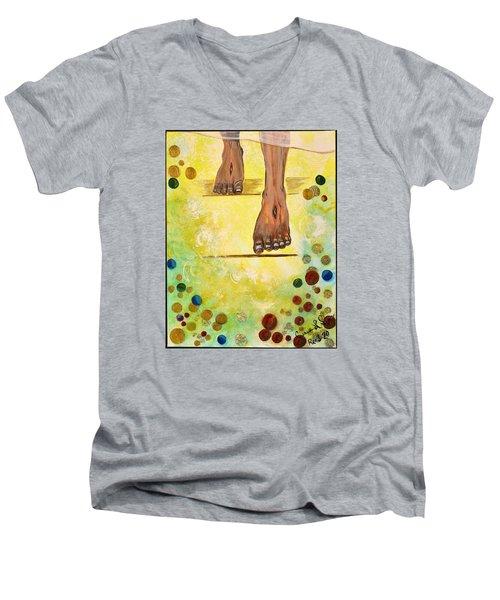 I Knock Men's V-Neck T-Shirt by Cassie Sears