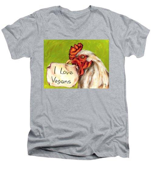 I Love Vegans Men's V-Neck T-Shirt