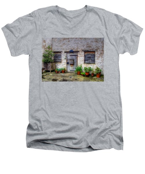 Men's V-Neck T-Shirt featuring the photograph I Miss Home by Doc Braham