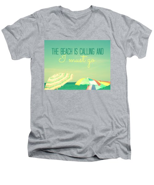 I Must Go Men's V-Neck T-Shirt by Valerie Reeves