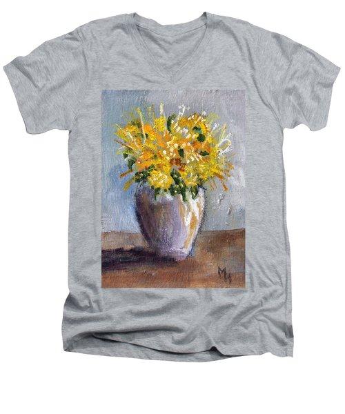 I Think Of Spring Men's V-Neck T-Shirt