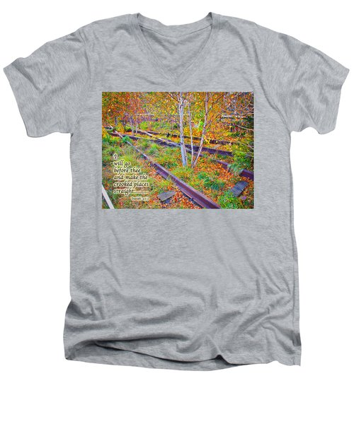 I Will Follow Lord Men's V-Neck T-Shirt by Terry Wallace