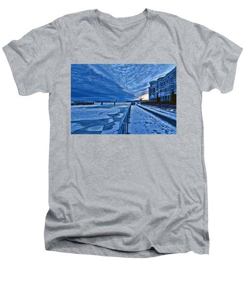 Ice Station Hudson Men's V-Neck T-Shirt