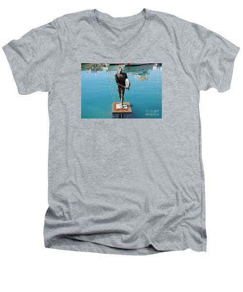 Icarus With His Surfboard Men's V-Neck T-Shirt