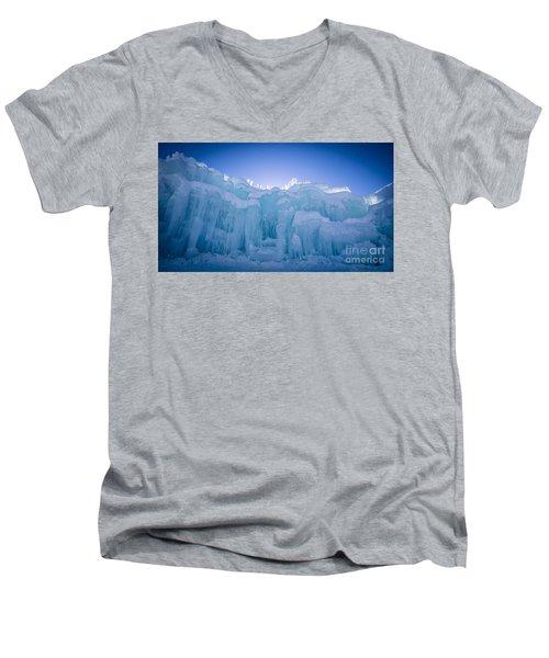 Ice Castle Men's V-Neck T-Shirt by Edward Fielding