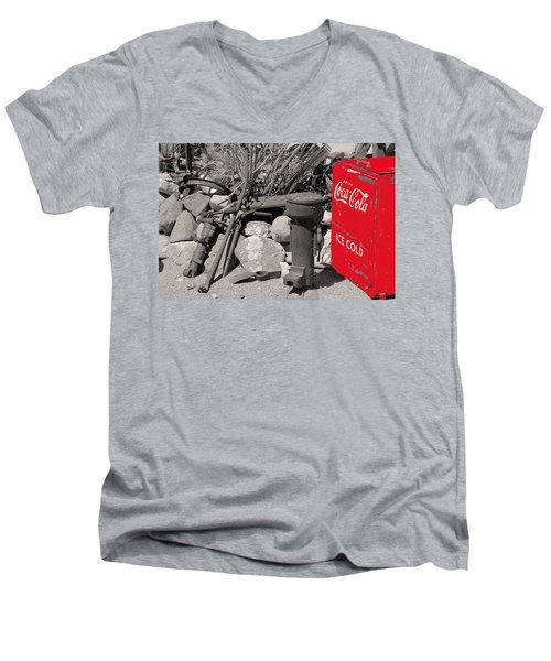 Ice Cold Drink Men's V-Neck T-Shirt by Leticia Latocki