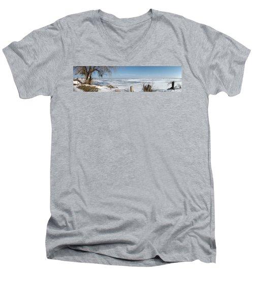 Ice Fishing Men's V-Neck T-Shirt