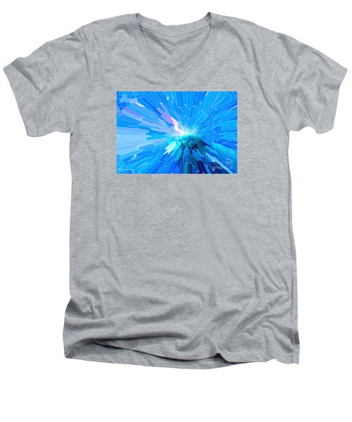 Men's V-Neck T-Shirt featuring the photograph Ice Queen by Mariarosa Rockefeller
