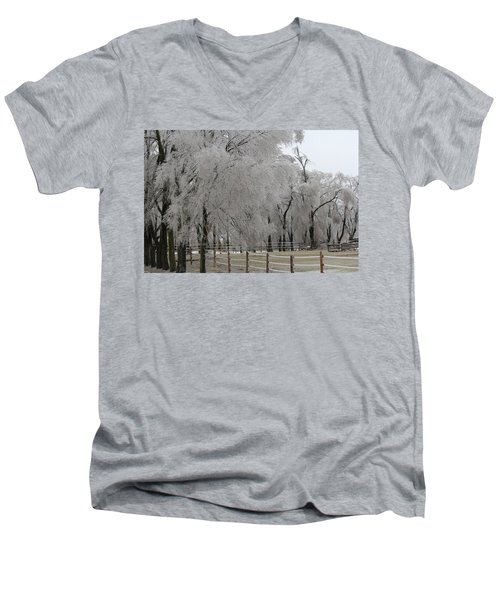 Ice Trees Men's V-Neck T-Shirt