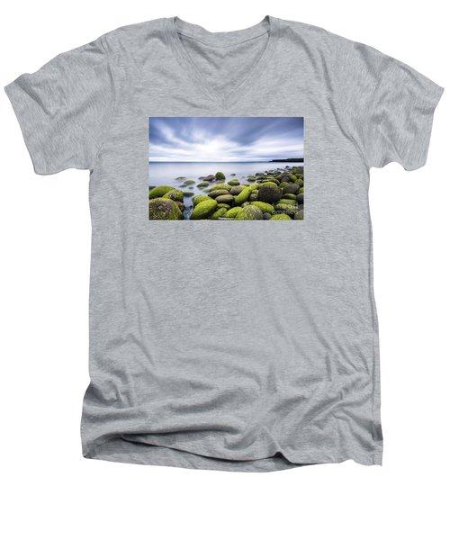 Iceland Tranquility 3 Men's V-Neck T-Shirt by Gunnar Orn Arnason