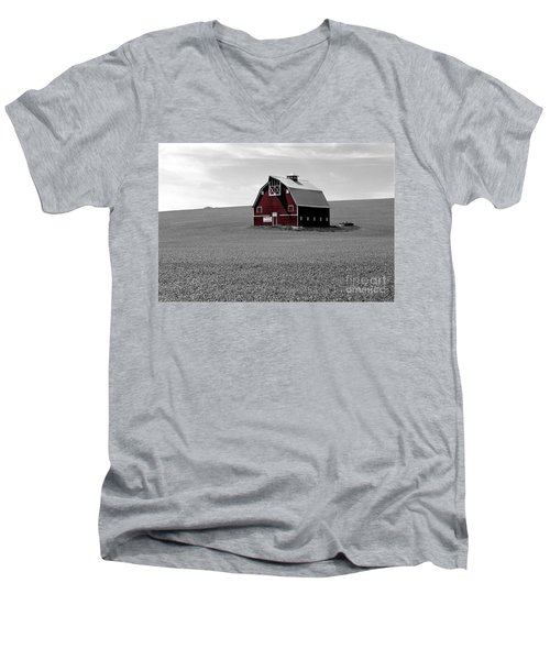 Men's V-Neck T-Shirt featuring the photograph Icon Of The Palouse by Sharon Elliott