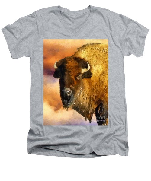 Icon Of The Plains Men's V-Neck T-Shirt by RC deWinter