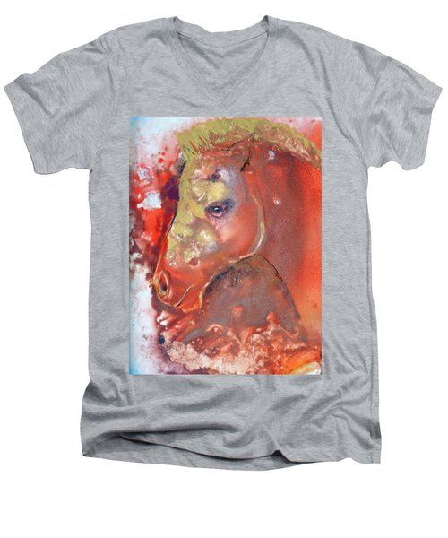 Iconic Horse Head Men's V-Neck T-Shirt