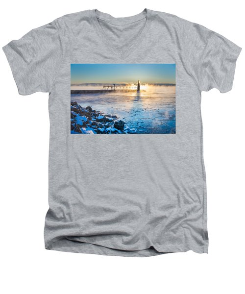 Icy Morning Mist Men's V-Neck T-Shirt