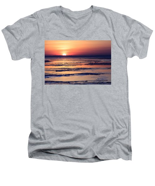 Icy Sunrise Men's V-Neck T-Shirt