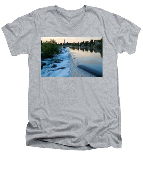 Idaho Falls Sunset Men's V-Neck T-Shirt