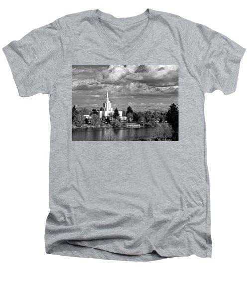 Idaho Falls Temple Men's V-Neck T-Shirt