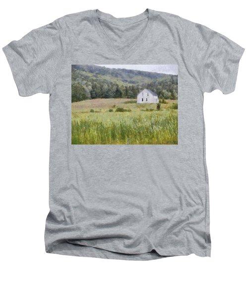 Idyllic Isolation Men's V-Neck T-Shirt by Jeff Kolker