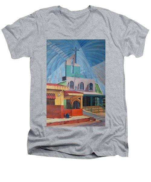 Iglesia San Rafael  Costa Rica Men's V-Neck T-Shirt