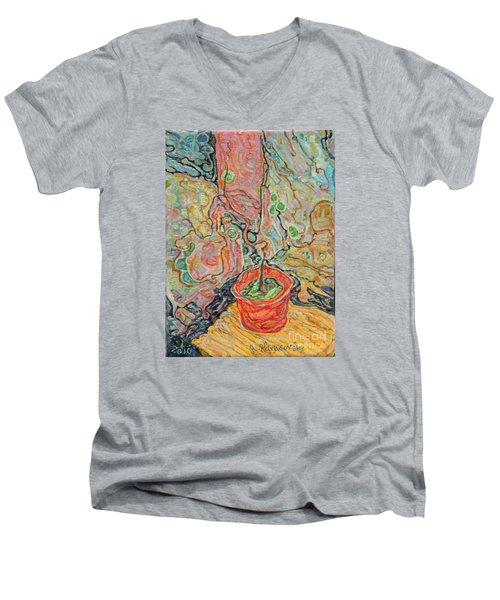 Ikebana Men's V-Neck T-Shirt