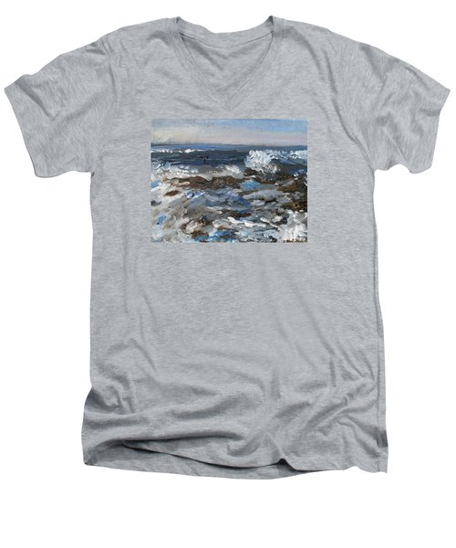 I'll Have A Water On The Rocks Please Men's V-Neck T-Shirt by Michael Helfen