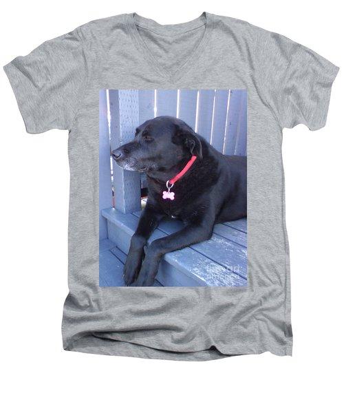 I'm Ignoring You Men's V-Neck T-Shirt by Barbara Griffin