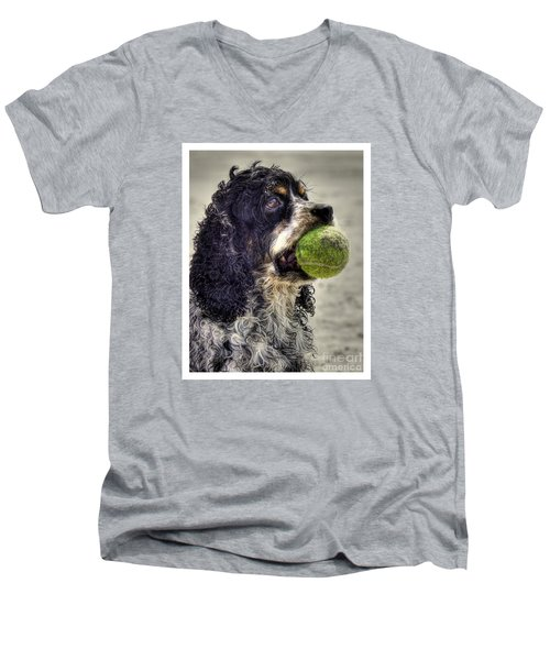 I'm Ready To Play Men's V-Neck T-Shirt by Benanne Stiens
