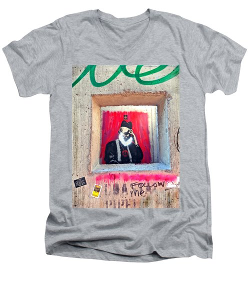 Men's V-Neck T-Shirt featuring the photograph I'm Thinking by Joan Reese
