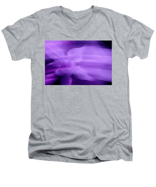 Imagination In Purple Men's V-Neck T-Shirt