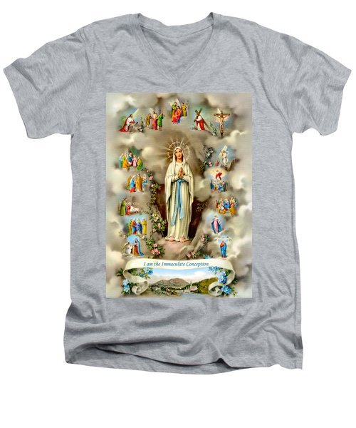 Immaculate Conception Men's V-Neck T-Shirt