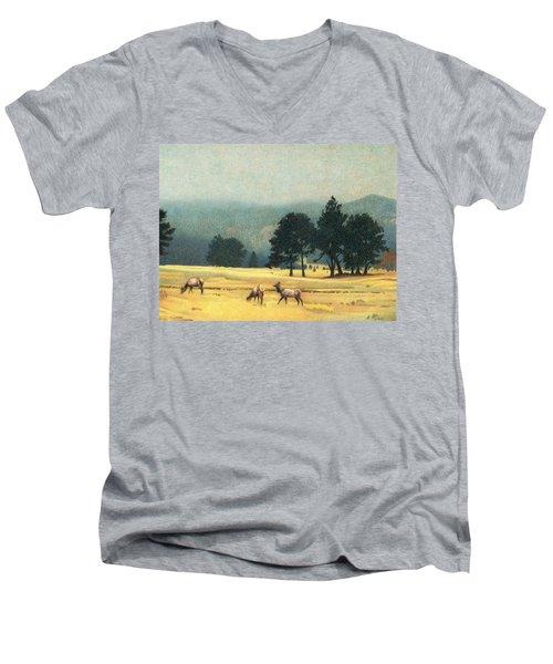 Impression Evergreen Colorado Men's V-Neck T-Shirt