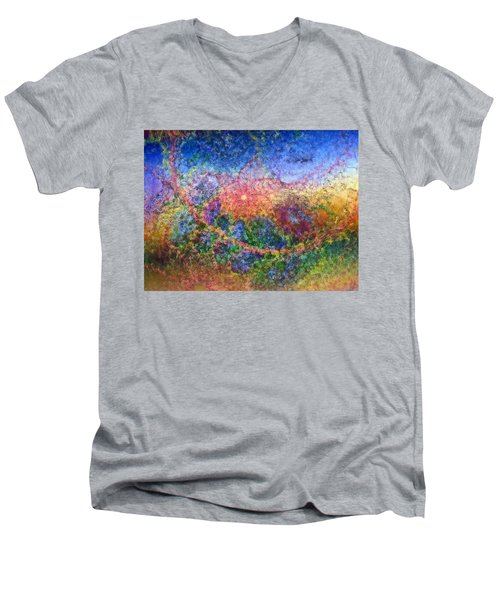 Impressionist Dreams 1 Men's V-Neck T-Shirt