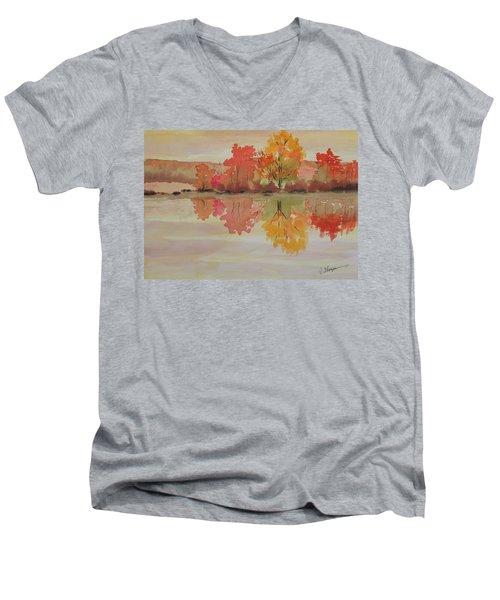 Impressions Of Fall Men's V-Neck T-Shirt